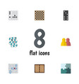 flat icon games set of chess table jigsaw vector image vector image