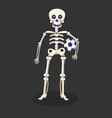 football player or skeleton with ball day dead vector image vector image