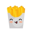 french fries character kawaii style vector image vector image