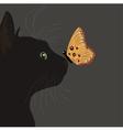 Funny Black Cat vector image vector image