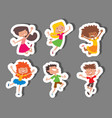 happy children in different positions big vector image vector image