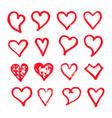 heart icon design hand draw vector image vector image