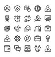 human resources line icons 2 vector image vector image