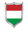 Hungary flag button vector image
