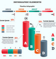 Infographics elements Columns chart with icons vector image vector image