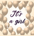 its a girl baby shower background vector image