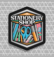 logo for stationery shop vector image vector image