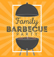 lovely barbecue party invitation design template vector image vector image