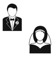 Marriage simple icon vector image