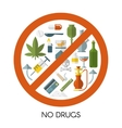 No Drugs Composition vector image