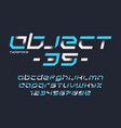 object 35 futuristic industrial display vector image vector image
