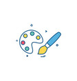 paint icon design vector image vector image