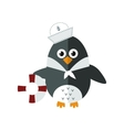Penguin sailor animal character vector image vector image
