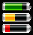 Progress bar baterries vector image