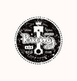 racing emblem for t-shirt vector image vector image