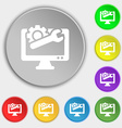 repair computer icon sign Symbol on eight flat vector image vector image