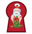 Santa Claus came to visit with a beautiful vector image vector image