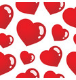 seamless background with hearts 3 vector image