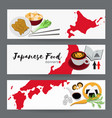 set of japanese food banners design templates vector image