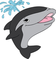Smiling Killer Whale vector image