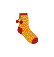 sock with pompon icon flat style vector image vector image