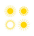 sun dots icons summer rest sign travel agency or vector image