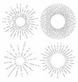 sunburst set sunshine rays in vintage style light vector image vector image