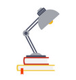 table lamp stands on books flat isolated vector image