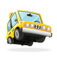 taxi car icon yellow cab transportation urban vector image vector image