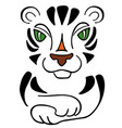 tiger symbol 2022 new year cute sketch vector image vector image