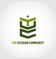 veteran community logo symbol icon vector image