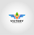victory - letter v logo template vector image vector image