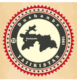 Vintage label-sticker cards of Tajikistan vector image vector image