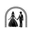 Wedding ceremony arch simple icon vector image vector image