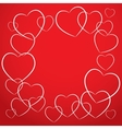 white heart on red background card desig vector image vector image