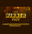 winner font set collection letters and numbers vector image