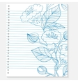sketch of a flower on notebook sheet vector image