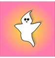 Cute ghost scares in for Halloween vector image