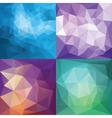 Polygonal Geometric backgrounds vector image