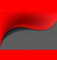 abstract red fabric wave metal circle mesh vector image vector image
