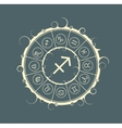 Astrology symbols in circle Archer sign vector image vector image