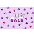big sale wallpaper with dimonds and typography vector image vector image