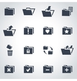 Black folder icon set