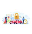 car sharing automobile rental service concept vector image