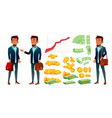 character banker and grow currency graphic vector image vector image