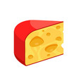 cheese icon - triangle piece of diary vector image vector image