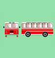 city passenger bus vector image