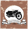 classic motorbike vector image vector image