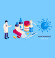 coronavirus infection treatment composition vector image vector image