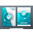 cover set teal template for brochure banner vector image